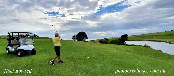 Ron Bradley (Gerringong GC) in action at Gerringong GC in the Volkswagen Scramble in March, 2021 Australian Senior Golfer March, 2021