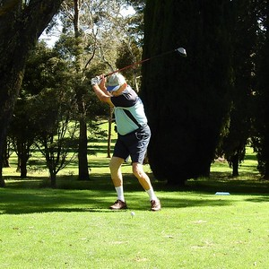 Richard Doyle (Glenmore Heritage Valley  GC) in action at Wentworth Falls CC during the 38th Annual Blue Mountains Veterans Week of Golf Australian Senior Golfer 1st March, 2021