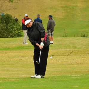 Dianne Bowen (Dunheved) in action at the WSRVGA Inter-Club event at Wallacia GC on August 31. Western News 14th September, 2018