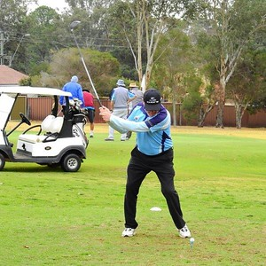 Brian Metcalfe (Leonay) in action at the WSRVGA Inter-Club event at Wallacia GC on August 31. Australian Senior Golfer 4th September, 2018