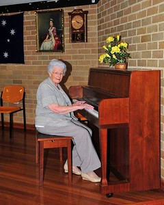 Norma Thorburn at the piano at the St Marys Senior Citizens Nepean News 7th November, 2019