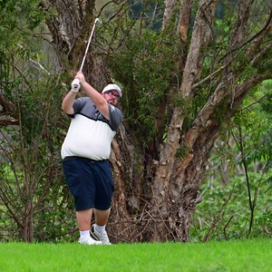 Adam Brennen (Leonay GC) in action during the 2020 Golf NSW Major Pennant competition. Western News 21st February, 2020
