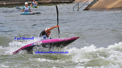 Noemie Fox in action at the 2018 Canoe Slalom Australian Open Nepean News 1st March, 2018
