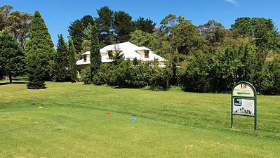 The view of the next door neighbour's house, taken from the 12th tee at Wentworth Falls CC during the 38th Annual Blue Mountains Veterans Week of Golf. Australian Senior Golfer 1st March, 2021
