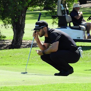 2021 Golf Challenge NSW Open Champion Bryden Macpherson surveys a putt during the 2021 Golf Challenge NSW Open at Concord GC Nepean News 2nd April, 2021