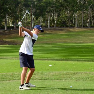 2019 Junior Club Champion 14-year old Coby Carruthers is a member of Leonay GC's Major Pennant squad in 2020. Nepean News 6th February, 2020
