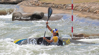 Jessica Fox in action at the 2018 Canoe Slalom Australian Open Nepean News 1st March, 2018