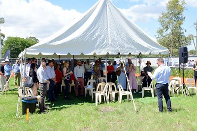 The ground-breaking ceremony for the new Log Cabin Hotel in Penrith Nepean News 5th March, 2021