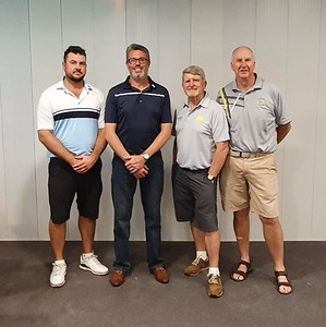 Andrew Carruthers, Reece Johnstone, Brendan McKeown & Gary Murphy - Div 1 and Div 2 Foursomes Match-Play Champions Nepean News 26th September, 2019
