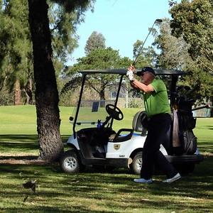 Ian Jordan (Richmond GC) in action at the 2019 WSRVGA Inter-Club at Richmond GC in July. Australian Senior Golfer 26th July, 2019