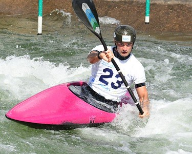 Julien Delfour in action at the Penrith Whitewater Stadium Nepean News 2nd April, 2021