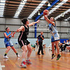 Ellie Hazelton (Goulburn Bears) launches a two-point attempt in Round Seven's central venue round of the 2016 Waratah State League Women's competition<br /> Goulburn Post<br /> 27th April, 2016