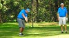 Ian Forrester (Penrith GC) tees-off in the WSRVGA Inter-Club event at Springwood Country Club<br /> Australian Senior Golfer<br /> 24th April, 2018