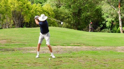 Bob Sproule in action during the Leonay GC Christmas Four-Person Ambrose event Australian Senior Golfer 17th December, 2018