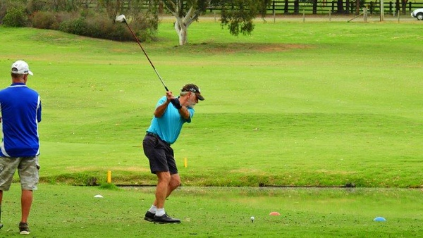 Mick Toohey (Wallacia GC) in action at the WSRVGA Inter-Club event at Glenmore Heritage Valley GC in November. Australian Senior Golfer 20th November, 2018
