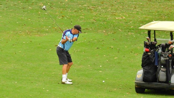 Bob Sproule (Leonay GC) in action at the WSRVGA Inter-Club event at Glenmore Heritage Valley GC in November. Australian Senior Golfer 20th November, 2018