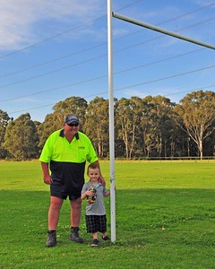 Terry Corbett (Mad Dog) donated his Grand Final tickets to young Taylor Ross Nepean News 10th October, 2019
