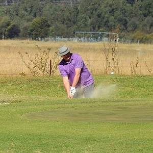 Alan Rudman (Glenmore Heritage Valley GC) in action at the 2019 WSRVGA Inter-Club at Richmond GC in July. Australian Senior Golfer 26th July, 2019