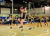 Sydney City Cobras Kyle Painter soars to the hoop on a runaway lay-up during the grand final of the 2014-15 GMP Ultimate Basketball League (UBL) competition.<br /> Auburn Review<br /> 17th March, 2015