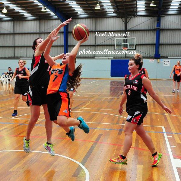 Taylor Newbould in action for the Hawkesbury Jets in the 2016 Waratah State League Women's competition<br /> Hawkesbury District Independent Magazine<br /> June edition, 2016