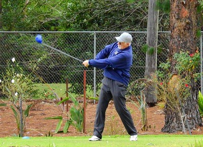 Gary Allsopp (Penrith GC) in action at the WSRVGA Inter-Club event at Dunheved GC in June. Nepean News 5th July, 2018