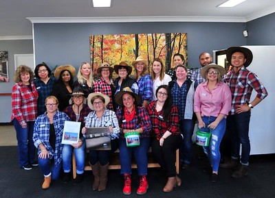 Staff of the Minchinbury Private Hospital supporting the Farmers Drought Relief Appeal with fund-raising. Nepean News 30th August, 2018