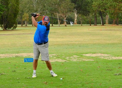 Michael Silleri in action at Dunheved GC during the Farmers Drought Relief Appeal Fund-Raiser. Australian Senior Golfer 4th October, 2018