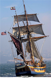 Hawaiian Chieftain under sail. Photo by Grays Harbor Historical Seaport Authority.