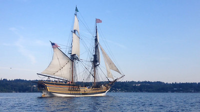 The brig Lady Washington under sail. Copyright 2014 Grays Harbor Historical Seaport Authority. All Rights Reserved. Except for brief excerpts for educational purposes or for news and information broadcasts or webcasts, this video may not be used for commercial purposes without the written consent of GHHSA.