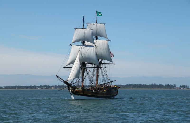Lady Washington under sail. Photo by Ron Arel, Coastal Images.