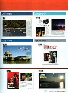 "Asian Photography  http://www.asianphotographyindia.com/  January 2009 Issue - Travel Feature Article - ""Jaisalmer - the Golden City"" by Anu (Arundhathi) & pictures by Suchit Nanda.    Asian Photography is India's premier and oldest photography magazine.    You can read the full article with full size images at:   http://suchit.net/photo/jaisalmer_2009/"