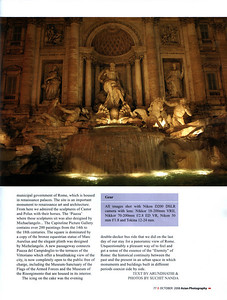 "Asian Photography  http://www.asianphotographyindia.com/  October 2008 Issue Travel Feature Article ""Roman Holiday"" by Anu (Arundhathi) & pictures by Suchit Nanda.   Asian Photography is India's premier and oldest photography magazine.   You can read the full article with full size images at:   http://suchit.net/photo/rome_2008/index.htm"