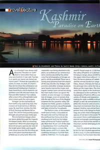 "Asian Photography June 2007  http://www.asianphotographyindia.com/  Travel Feature Article ""Kashmir - Paradise on Earth"" by Anu & Suchit Nanda.   You can read the full article with full size images at:  http://suchit.net/photo/kashmir_2005/index.htm"