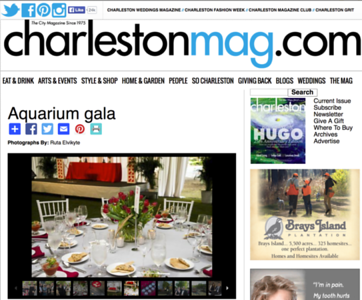 Charleston Magazine- Aquarium Gala