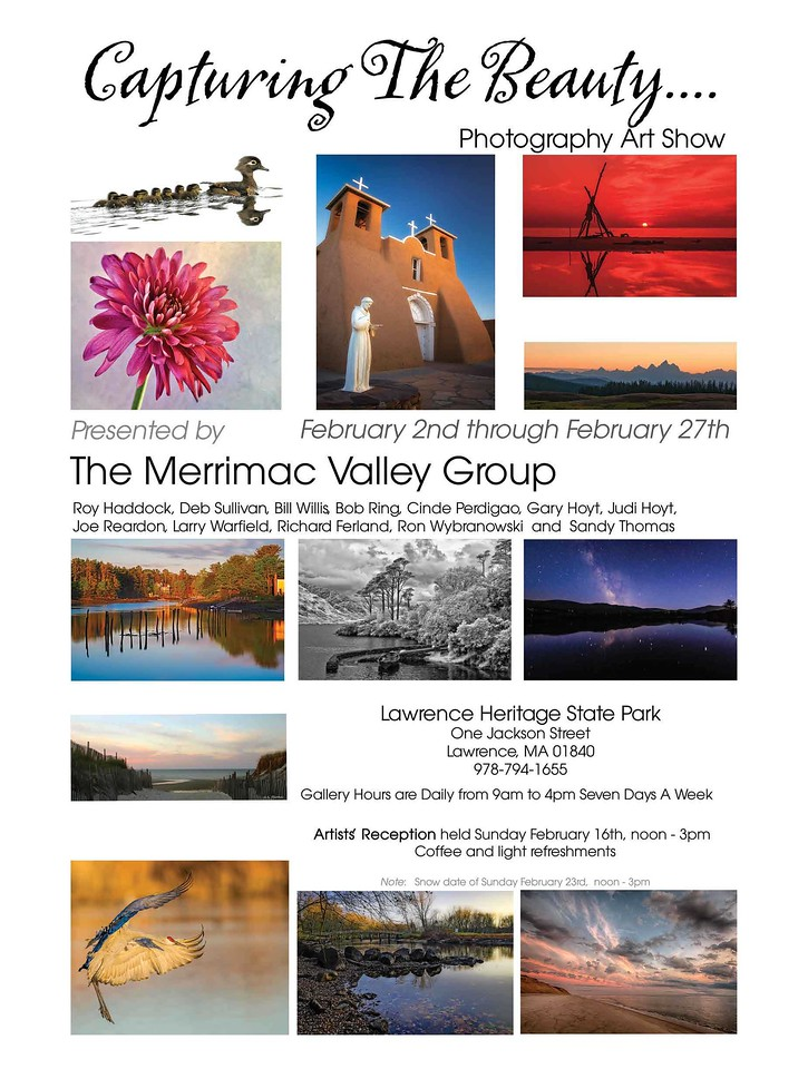 "In February, I was part of a gallery show at the Essex Heritage State Park building.  I was honored to be included with 11 other talented photographers.  A muical slide show off all the images in this show ""Capturing the Beauty"" can be viewed by clicking the link.  Be sure to view it full screen with the sound up.<br /> <br /> <br /> <br /> <a href=""http://vimeo.com/89141799"">http://vimeo.com/89141799</a>"