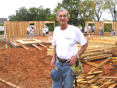 Millard Fuller loved blitz builds, where multiple houses are constructed in a week, such as this one in Shreveport in 2006.