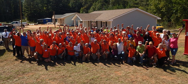 Millard Fuller Legacy Build volunteers in Valley, Alabama, in 2016, just outside of Millard's hometown of Lanett, Alabama.