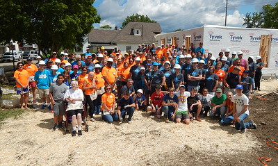 2017 Millard Fuller Legacy Build volunteers on the opening day in Indianapolis last June.