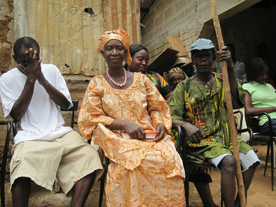 Santigue Kanu (right) and family, Sierra Leone