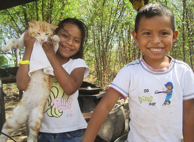 First homeowner partner children in Nicaragua -- Cindi and Yasser