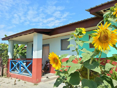 One of 132 homes built so far in Haiti