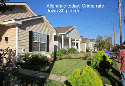 TRANSFORMATION: More than 45 new homes later, the crime rate in Allendale is down 80 percent from 2005 levels.