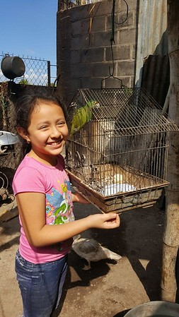 Marina — age 9 — says her pet bird also would like to live in a decent home.