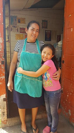 Marina with her mother Florinda, a maid and tortilla maker.