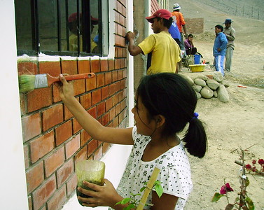 Zuinmy working on her family's home in 2009