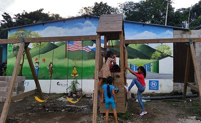 Children play at our thriving 99-home community in Nuevo Cuscatlán, El Salvador.
