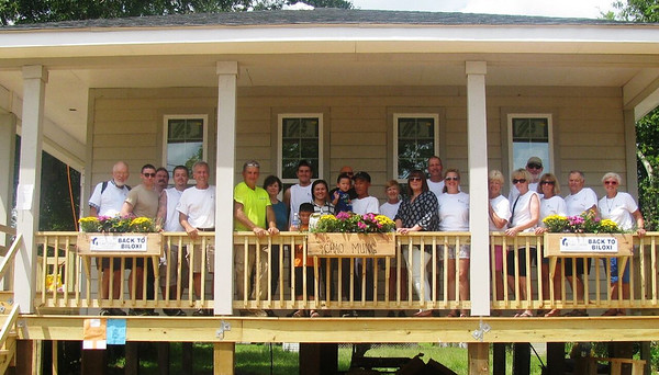 Ocean Springs Lumber helped make this new home possible for the Nguyen family at the Back to Biloxi Build