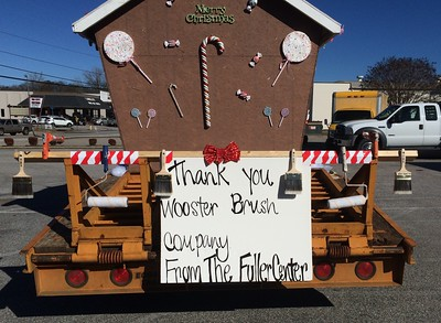 Wooster Brush Co. is thanked during a Christmas parade in Valley, Alabama (site of the 2016 Legacy Build)