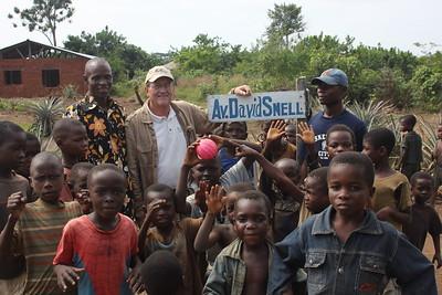 David Snell ... on his avenue in Democratic Republic of Congo