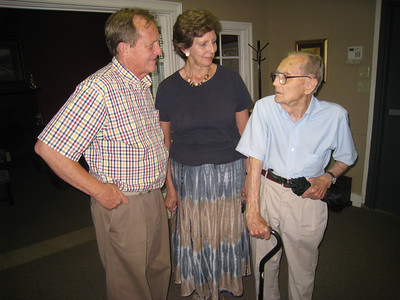 2010 08-03 Dr. Robert Ayers of Athens, GA. Years ago, he heard Clarence Jordan speak and they became friends. He has followed and supported the ministries that sprung from Koinonia such as Habitat for Humanity, Jubilee Partners and The Fuller Center for Housing.  lf